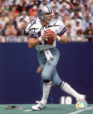 Roger Staubach Dallas Cowboys Autographed Photo (Hand Signed Collectable)