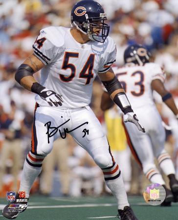 Brian Urlacher Chicago Bears Autographed Photo (Hand Signed Collectable)