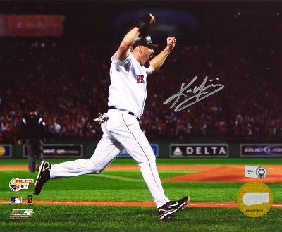 Kevin Youkilis Boston Red Sox - Arms Up Celebration Autographed Photo (Hand Signed Collectable)