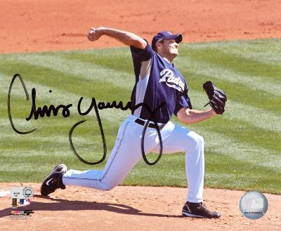 Chris Young San Diego Padres Autographed Photo (Hand Signed Collectable)