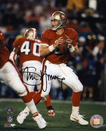 Steve Young San Francisco 49ers - Dropping Back to Pass