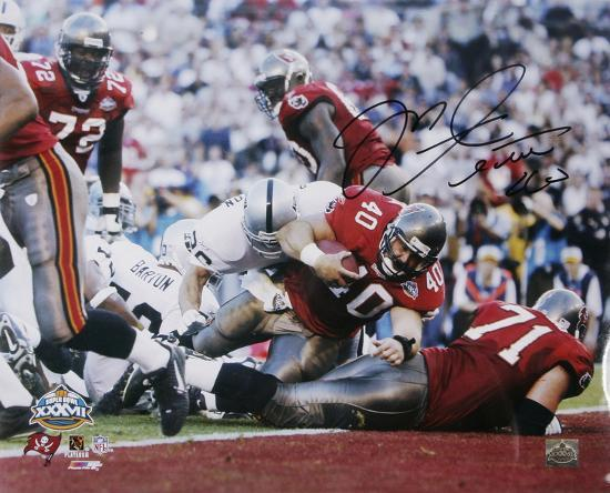 uk availability 63ac2 2f14b Mike Alstott Tampa Bay Buccaneers - Super Bowl XXXVI TD Autographed Photo  (Hand Signed Collectable)