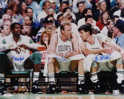 Larry Bird, Robert Parish, Kevin McHale Boston Celtics Autographed Photo (Hand Signed Collectable)