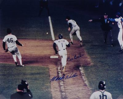 Bill Buckner & Mookie Wilson 1986 World Series Autographed Photo (Hand Signed Collectable)
