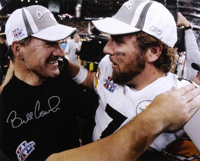 Bill Cowher PittsburgSteelers with Roethlisberger SB Autographed Photo (H& Signed Collectable)