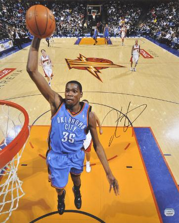 Kevin Durant Oklahoma City Thunder Autographed Photo (Hand Signed Collectable)