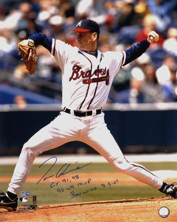 Tom Glavine with CY 91,98, 95 WS MVP & 300 Wins 8/5/07 Autographed Photo (Hand Signed Collectable)