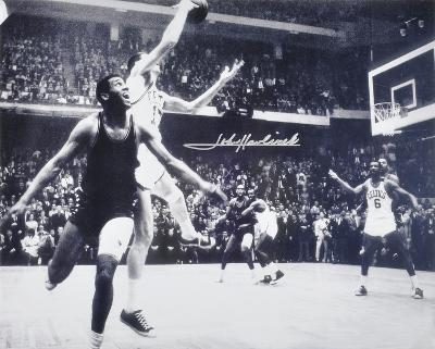 John Havlicek Boston Celtics - The Steal Autographed Photo (Hand Signed Collectable)