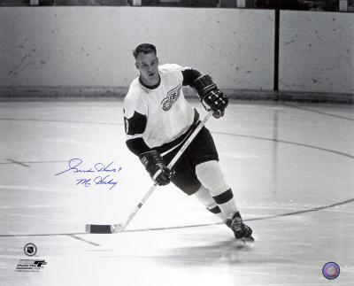 Gordie Howe - Detroit Red Wings with Mr. Hockey  Autographed Photo (Hand Signed Collectable)