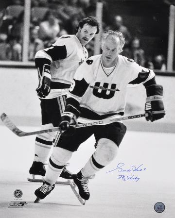 Gordie Howe Hartford Whalers with Mr. Hockey  Autographed Photo (Hand Signed Collectable)