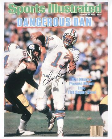 Dan Marino Miami Dolphins Sports Illustrated Cover Autographed Photo (Hand Signed Collectable)