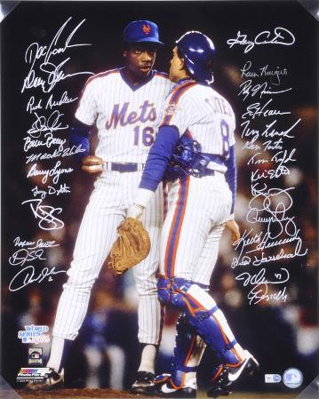 1986 New York Mets - Carter and Gooden - Team Signed Autographed Photo (Hand Signed Collectable)