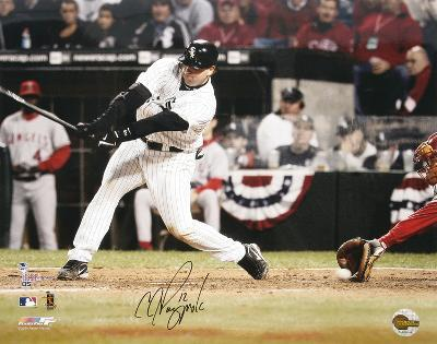 A.J. Pierzynski White Sox ALCS Game 2, 3rd Strike Autographed Photo (Hand Signed Collectable)