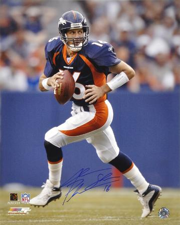 Jake Plummer Denver Broncos - Running Autographed Photo (Hand Signed Collectable)