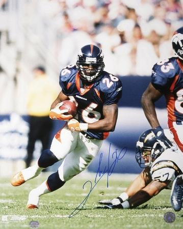 Clinton Portis Denver Broncos - Running Autographed Photo (Hand Signed Collectable)