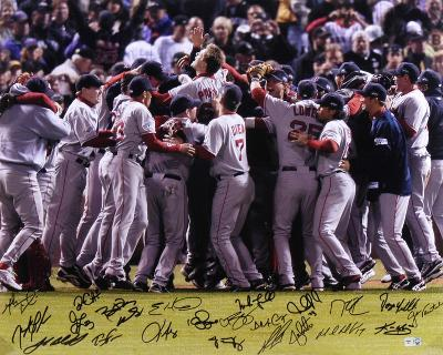 Boston Red Sox 2007 World Series 22 Signatures Autographed Photo (Hand Signed Collectable)