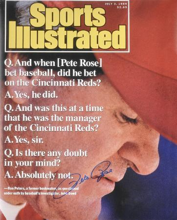 Pete Rose Cincinnati Reds 1999 Sports Illustrated Cover Autographed Photo (Hand Signed Collectable)