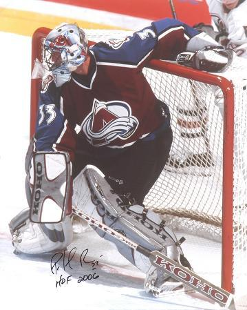 "Patrick Roy with ""Hall Of Fame 2006"" Inscription Autographed Photo (Hand Signed Collectable)"
