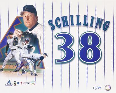 Curt Schilling Arizona Diamondbacks LE Collage Autographed Photo (H& Signed Collectable)