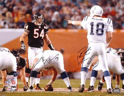 Peyton Manning and Brian Urlacher Super Bowl XLI Action Autographed Photo (Hand Signed Collectable)
