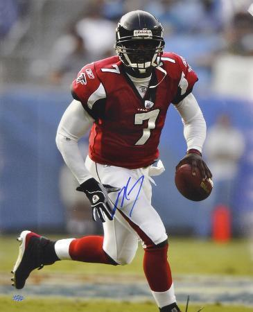 Michael Vick Atlanta Falcons - Looking Upfield - Autographed Photo (Hand Signed Collectable)