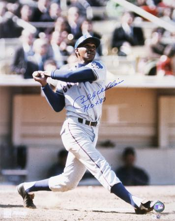 Billy Williams Chicago Cubs with HOF 87 Inscription Autographed Photo (Hand Signed Collectable)
