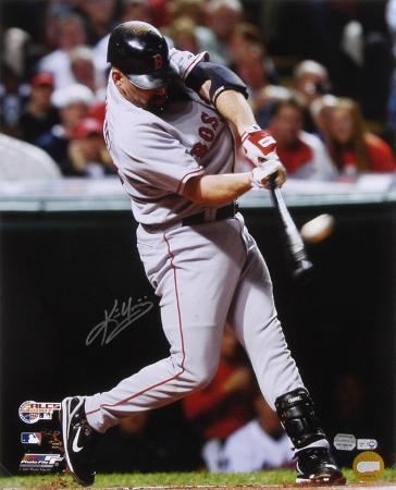 Kevin Youkilis Boston Red Sox - ALCS Home Run Autographed Photo (Hand Signed Collectable)