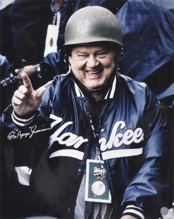 Don Zimmer NY Yankees Military Hard Helmet w/ Popeye Autographed Photo (Hand Signed Collectable)