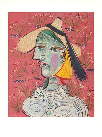 Marie-Therese mit Strohhut, c.1938