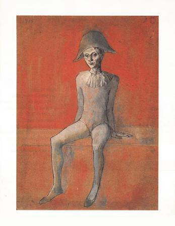 Sitzender Harlekin, c.1905