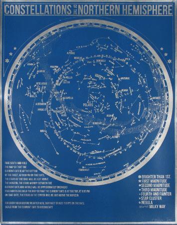 Constellations of the Northern Hemisphere (Blue)