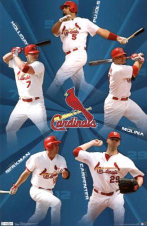 St Louis Cardinals 2011 Holliday Pujols Molina Carpenter Berkman