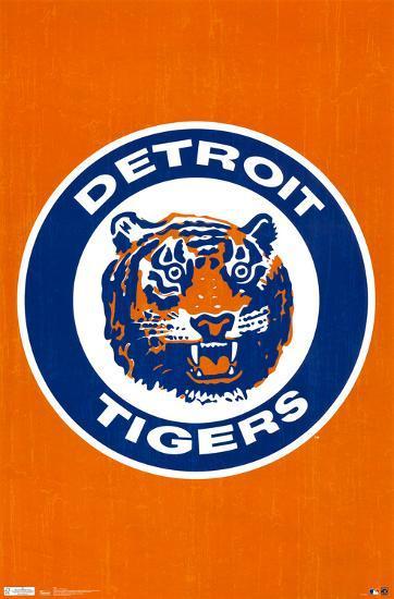 Detroit Tigers Retro Logo Posters At Allposters Com