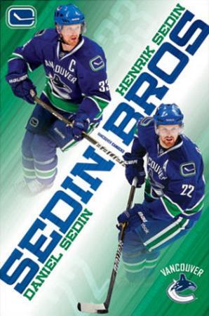Vancouver Canucks Sedin Brothers Henrik Daniel