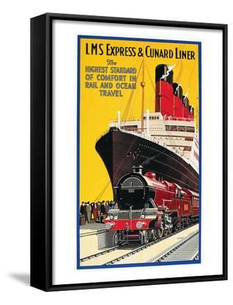 Lms Express/Cunard Poster