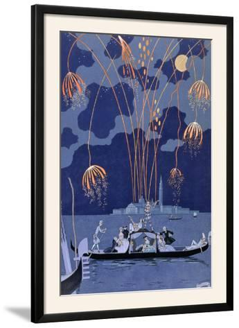 "Fireworks in Venice, Illustration for ""Fetes Galantes"" by Paul Verlaine 1924"
