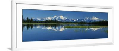 Reflection of Mountains in Lake, Mt. Foraker and Mt. Mckinley, Denali National Park, Alaska, USA