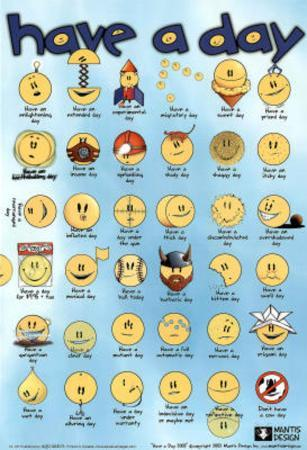Have a Day Smiley Faces Art Print Poster