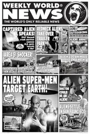 Weekly World News (Aliens) Art Poster Print