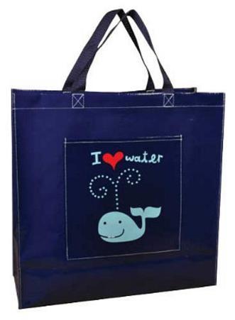 I Heart Water Whale Shopper Bag