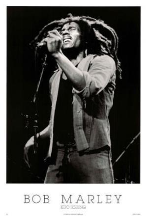 Bob Marley Singing on Stage