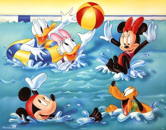 bathroom decoration vintage mickey minnie decor mouse.htm mickey mouse and friends pool games  posters allposters com  mickey mouse and friends pool games
