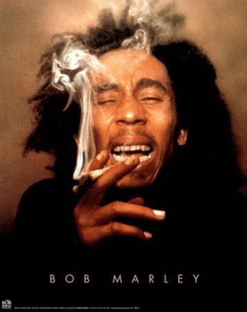 Bob Marley Ganja smoking POSTER reggae pot marijuana