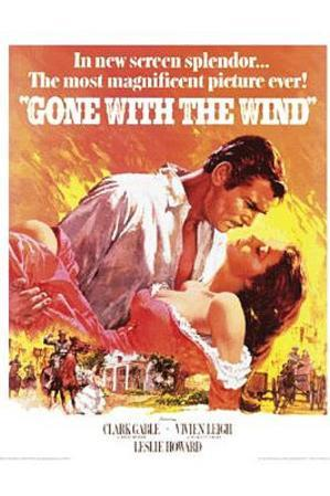 Gone with the Wind Movie, Rhett Butler and Scarlett O'Hara Embrace, Poster Print
