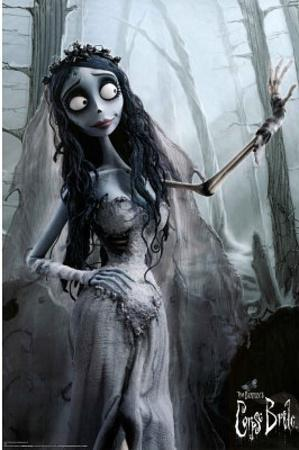 Corpse Bride Movie Bride in Woods Poster Print