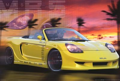 Toyota MRS (Photo) Sports Car Poster