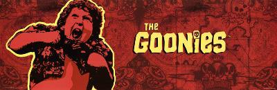The Goonies Movie Chunk Truffle Shuffle Map Poster Print