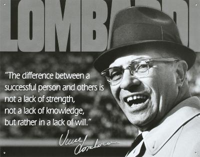 Vince Lombardi Successful Person Quote Sports