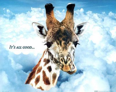 Giraffe (It's All Good) Art Poster Print