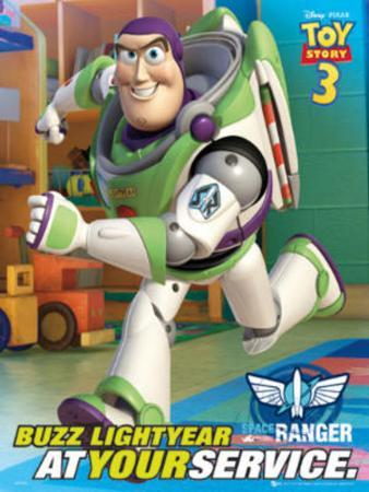 Toy Story 3 Movie Buzz Lightyear Poster Print